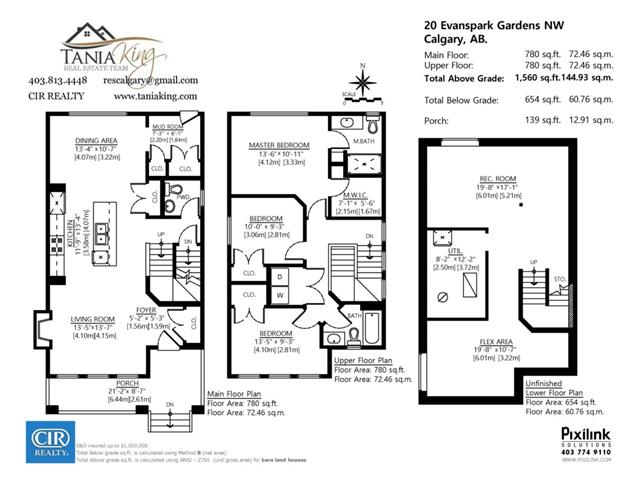 20 EVANSPARK GD NW - Evanston Detached for sale, 3 Bedrooms (C4000611) #2