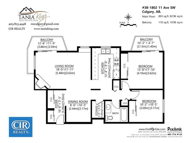 #B 1802 11 AV SW - Sunalta Lowrise Apartment for sale, 2 Bedrooms (C4005493) #3